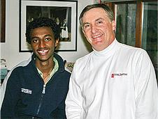 Dawit Katz with Ed Stone